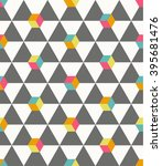 seamless vector geometric... | Shutterstock .eps vector #395681476