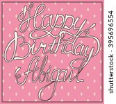 vector happy birthday lettering ... | Shutterstock .eps vector #395696554