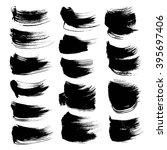 abstract black strokes set... | Shutterstock .eps vector #395697406