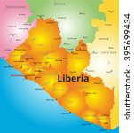 color map of liberia country | Shutterstock .eps vector #395699434