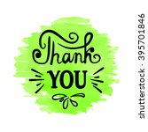 thank you   hand drawn... | Shutterstock .eps vector #395701846