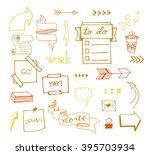 vector hand drawn set on white... | Shutterstock .eps vector #395703934