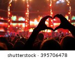 silhouette of a heart shaped... | Shutterstock . vector #395706478