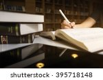 close up of student hand... | Shutterstock . vector #395718148