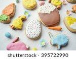 .delicious easter cookies...   Shutterstock . vector #395722990