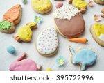 homemade gingerbread cookies in ...   Shutterstock . vector #395722996