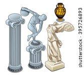 A Set Of Ancient Greek Statue...