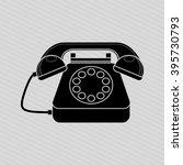 telephonic service design  | Shutterstock .eps vector #395730793