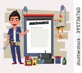 mechanic. car check up  repair  ... | Shutterstock .eps vector #395736760