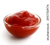 small glass condiment bowl of... | Shutterstock . vector #395750974