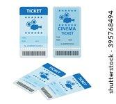 modern cinema ticket  cinema ... | Shutterstock .eps vector #395768494