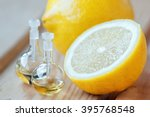 essential aroma oil in glass... | Shutterstock . vector #395768548