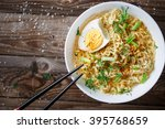 Asian Noodles With Fresh Green...