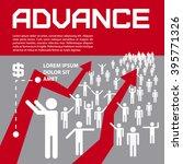 business presentation   advance.... | Shutterstock .eps vector #395771326