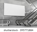 blank horizontal big poster in... | Shutterstock . vector #395771884