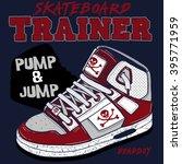 skateboard trainer tee graphic | Shutterstock .eps vector #395771959