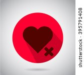 heart icon. background  shadow...
