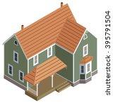 isometric home in green  vector | Shutterstock .eps vector #395791504