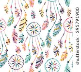 seamless pattern with native... | Shutterstock . vector #395791900
