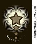 retro vector star light design | Shutterstock .eps vector #3957928
