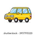 yellow cartoon car. | Shutterstock .eps vector #395795320