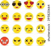 Emoticon Icon Set Vector...