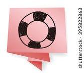 lifebuoy doodle | Shutterstock . vector #395822863
