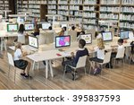study studying learn learning... | Shutterstock . vector #395837593