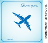 plane icon | Shutterstock .eps vector #395847946