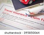 travel insurance claim... | Shutterstock . vector #395850064