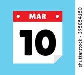 calendar icon flat march 10