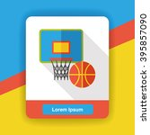 basketball game flat icon | Shutterstock .eps vector #395857090
