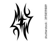 tattoo tribal vector design...   Shutterstock .eps vector #395859889