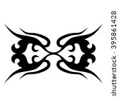 tattoo tribal vector designs.... | Shutterstock .eps vector #395861428
