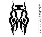 tattoo tribal vector design.... | Shutterstock .eps vector #395862790