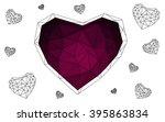 dark pink heart isolated on... | Shutterstock .eps vector #395863834
