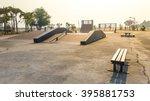 skate park in the daytime.... | Shutterstock . vector #395881753