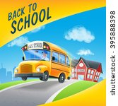 school bus | Shutterstock .eps vector #395888398