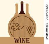 stylized image of wine bottles... | Shutterstock .eps vector #395904520