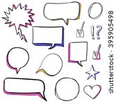 set of 3d hand drawn icons ... | Shutterstock .eps vector #395905498
