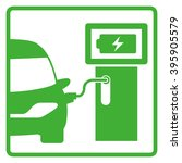 electric vehicle charging... | Shutterstock .eps vector #395905579