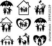 big set of family icons. happy... | Shutterstock . vector #395910139