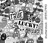 black and white stickers... | Shutterstock . vector #395917993