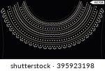 ethnic neck line embellishments ... | Shutterstock .eps vector #395923198