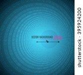 abstract blue binary code... | Shutterstock .eps vector #395924200