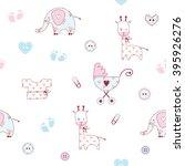 cute baby shower pattern | Shutterstock .eps vector #395926276