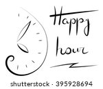 Happy Hour. Clock Image And Th...