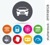wifi  like counter and calendar ... | Shutterstock .eps vector #395938528