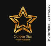 gold star logo  icon. abstract... | Shutterstock .eps vector #395943190