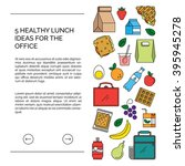 web template for lunch recipes... | Shutterstock .eps vector #395945278